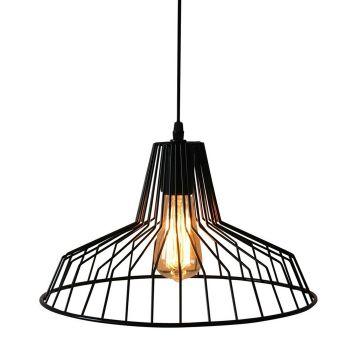 Luminite Black Metal Case Pendant Lamp