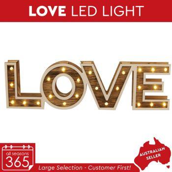 Love Wooden Led Light