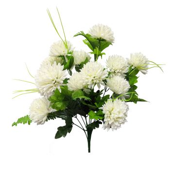 Artificial 14 Head Chrysanthemum With Greenery
