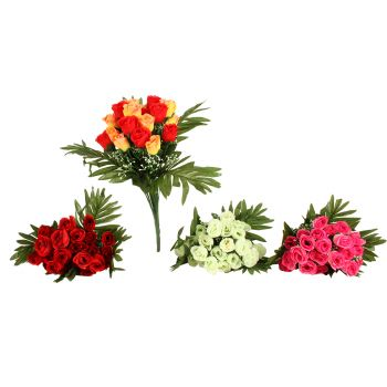 Artificial Rose Bunch With Greenery