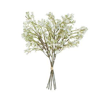 Artificial Plant Babys Breath Bouquet Flower 37CM White Fake Realistic Decor