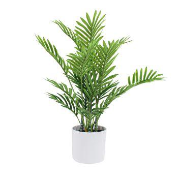 Artificial Plant Mini Palm Tree in Pot 40CM Fake Realistic Touch Garden Decor