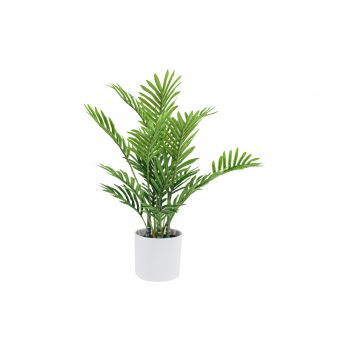 MINI PALM REAL TOUCH IN WHITE POT 40 CM