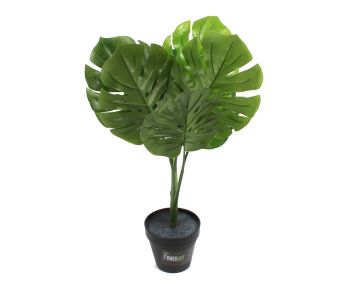 Artificial Monstera Plant Potted