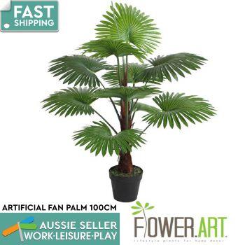 Artificial Fan Palm Potted 100cm