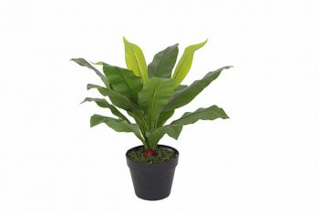 Artificial Fern Leaves in Plastic Pot 50CM