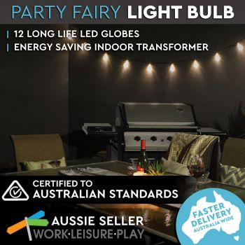 12 Clear Globes Party Lights 8.3M