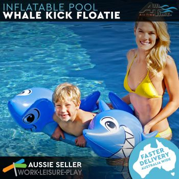 Airtime Inflatable Kick Float Whale 95X68X44CM