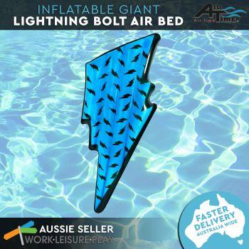 Airtime Giant Inflatable Bolt Air Mat Neon Blue 194X73X17CM
