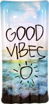Airtime Inflatable Giant Good Vibes Air Bed 182X82X22CM