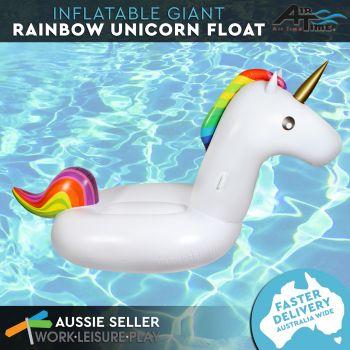 Airtime Inflatable Giant Rainbow Unicorn 275X115X127CM