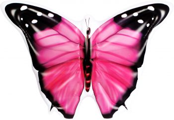 Airtime Inflatable Jumbo Butterfly Pink 133X183X24CM
