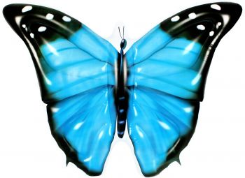 Airtime Inflatable Jumbo Butterfly Blue 133X183X24CM