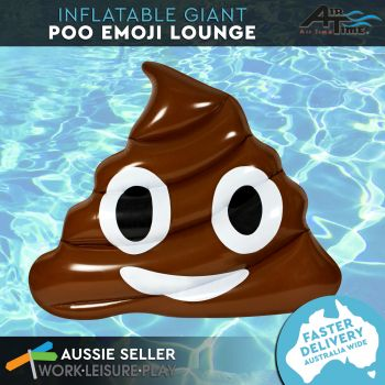 Airtime Inflatable Giant Poo Lounge 179X147X38CM
