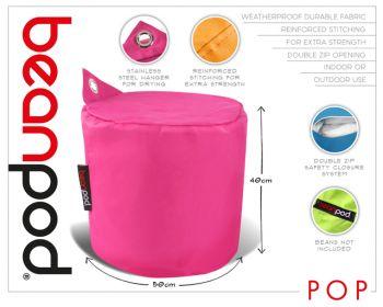 Beanpod Beanbag Cover Pop Pink 50X40CM
