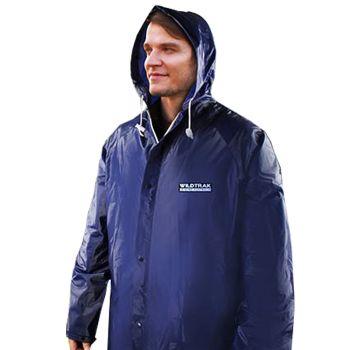 Men Hooded Raincoat Jacket Medium Navy