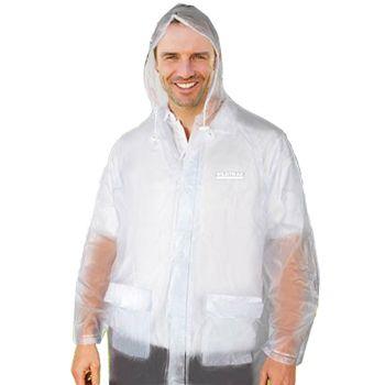 Men Transparent Hooded Raincoat Medium