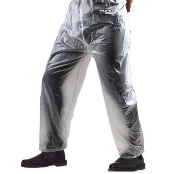 Men Transparent Rain Trousers Large
