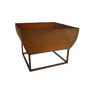 Outdoor Windermere Fire Bowl Rust Iron 50x50x37cm