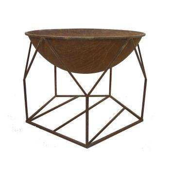 Outdoor Buckingham Fire Bowl Rust Iron 70x70x55cm