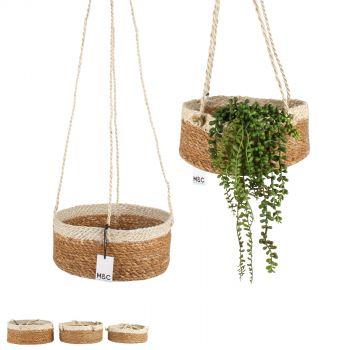 Airlie Jute Hanging Basket w/ Rope Hanger