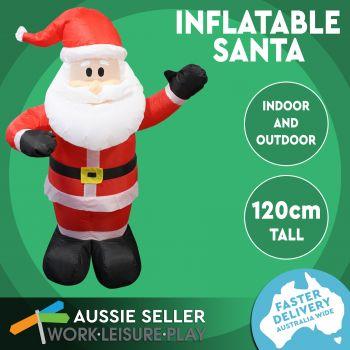 Christmas Inflatable Waving Santa