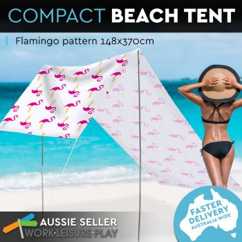 Summer Beach Tent Flamingo