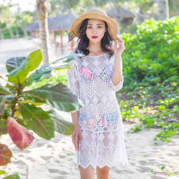 Women's Sexy White Bikini Dress Cover Up