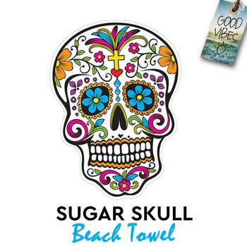 Sugar Skull Pattern Beach Towel