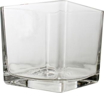 Hand Crafted Square Glass Vase