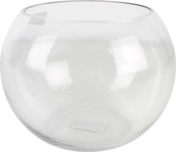 CLEO HAND CRAFTED BUBBLE BOWL GLASS VASE 25CM DIA