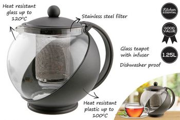 Teapot with Stainless Steel Infuser