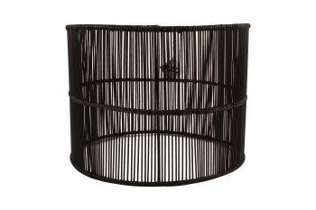 RHAPSODY RATTAN PENDANT LAMPSHADE 40 X 40 X 30CM BLACK
