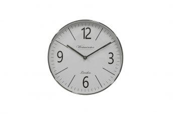 BARNET METAL CLOCK SILVER 29.5 X 29.5 X 5CM
