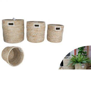 Elliot Kans Grass Baskets Set of 3
