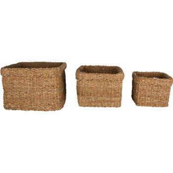 Yallingup Sea Grass Square Basket Set of 3