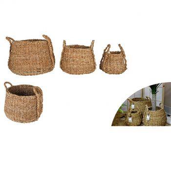 Denmark Sea Grass Dim Jhuri Design Baskets Set of 3