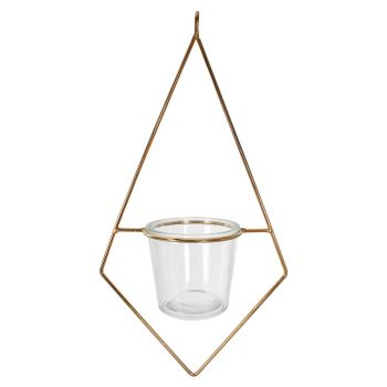 Diam hanging Metal Plant Stand Gold