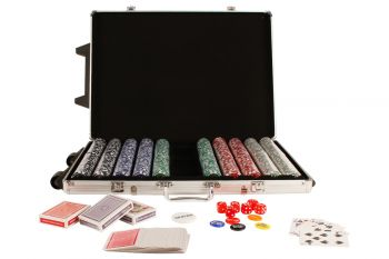1000 Poker Chip Card Game Play Set w/ Aluminium Carry Case