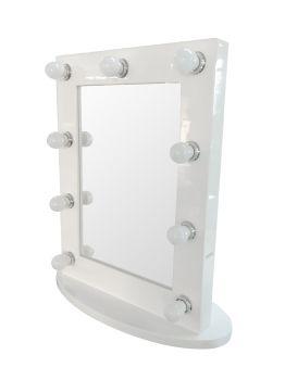 Vanity Hollywood Mirror w/ Lights Aluminium 65X50X6CM