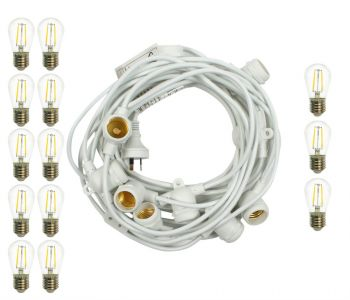 Outdoor Marquee Lights   10m   white   Filament 2W
