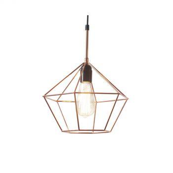 Luminite Diamond Cage Lamp Copper