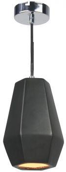 Luminite Pendant Light Porcelain Hubbery Black Cylinder 14.5X145CM