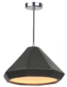 Luminite Pendant Light Porcelain Hubery Black Diamond Wide 28X140CM