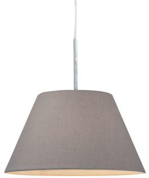 Luminite Pendant Light Fabric Eccas Grey 30.5X140CM