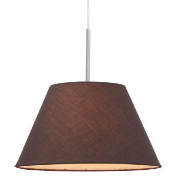 Luminite Pendant Light Fabric Eccas Grey Coffee 30.5X140CM