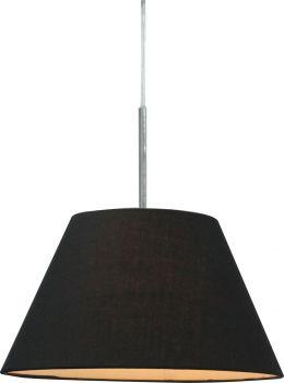 Luminite Pendant Light Fabric Eccas Black 30.5X140CM