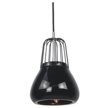 Luminite Pendant Light Metal Black Porcelain 18X145CM