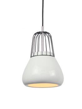 Luminite Pendant Light Metal White Porcelain 18X145CM