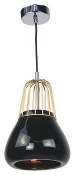 Luminite Pendant Light Brass Metal Black Porcelain 18X145CM